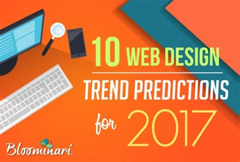 web design ideas 2017 10 web design trends predictions for 2017 infographic