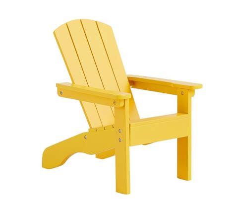 bright yellow adirondack chair pottery barn
