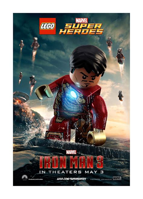 film marvel iron man iron man 3 lego posters the disney blog
