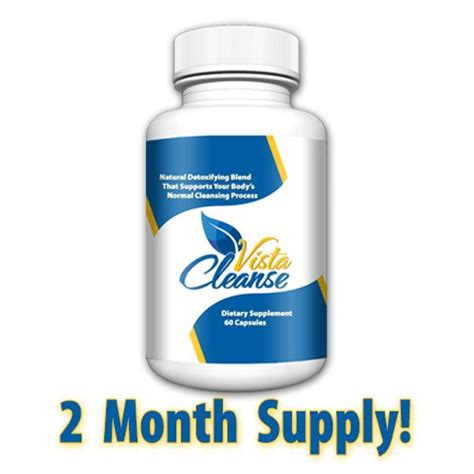 Vaccine Detox 2 Month by Vista Cleanse 1 Bottle 2 Month Supply Garcinia Cambogia