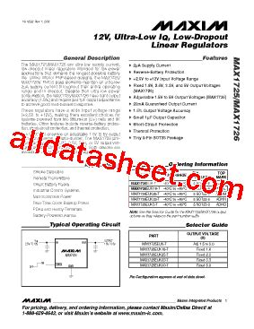 maxim integrated products chelmsford ma max1725 데이터시트 pdf maxim integrated products