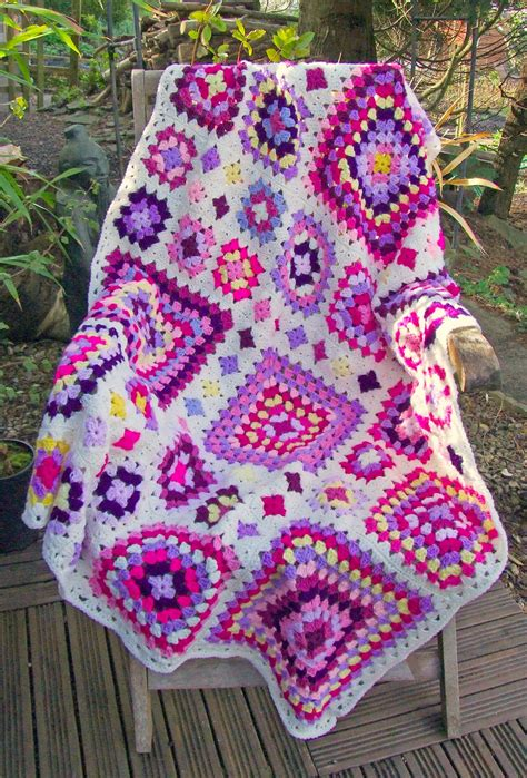 Square Afghan Blanket by Shabby Chic Square Throw Pattern Woolnhook By