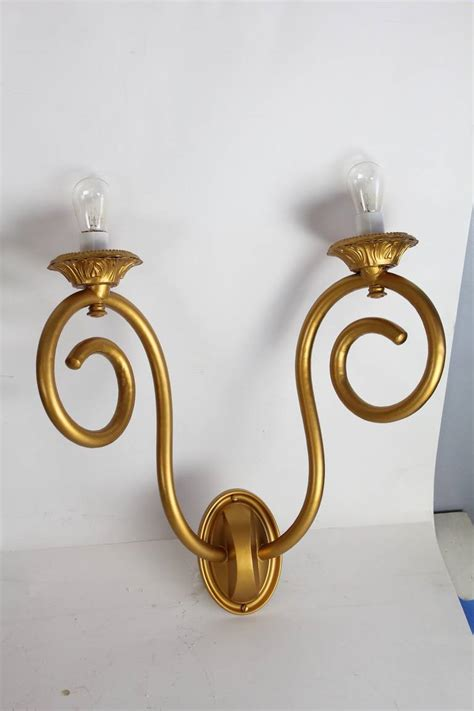 Tin Wall Sconce Antique American Theater Gilded Tin Wall Sconces For Sale At 1stdibs