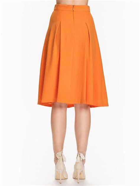 Miss Selfridge Summer Skirt by Crepe Midi Skirt Miss Selfridge Orange Skirts
