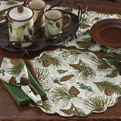 walk in the woods place mats and linens