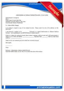 free printable cover letter free printable authorization to release records