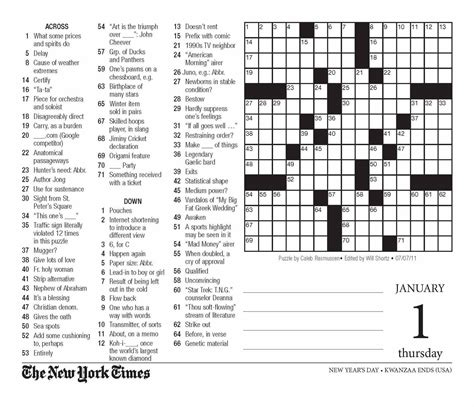 easy crossword puzzles new york times new york times crossword puzzle printable today