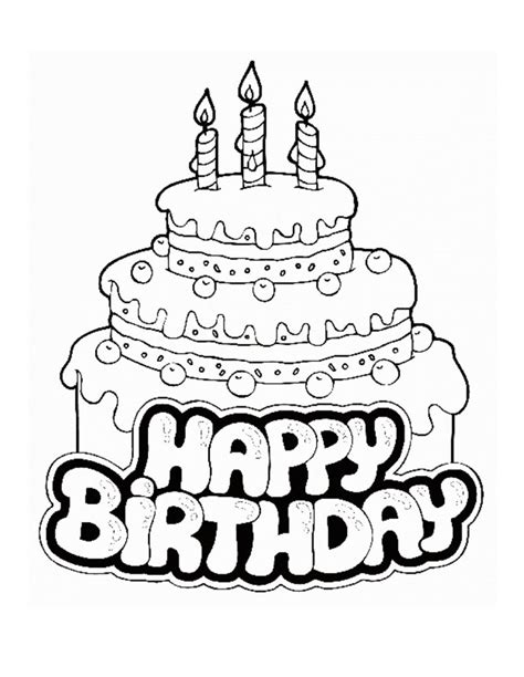 coloring pages for birthday cake free printable birthday cake coloring pages for kids