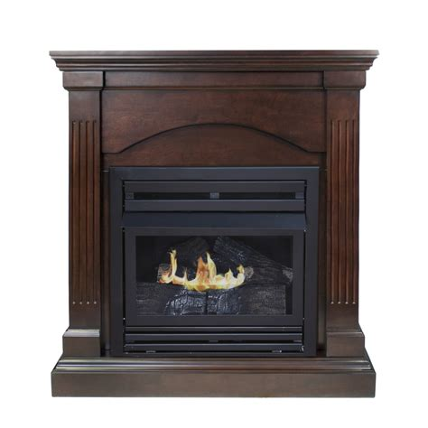 shop pleasant hearth 35 75 in dual burner vent free