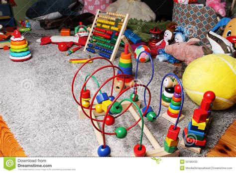 toys in room on the floor stock photo image 50166433