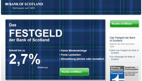 freistellungsauftrag bank of scotland bank of scotland festgeld bank aktuell