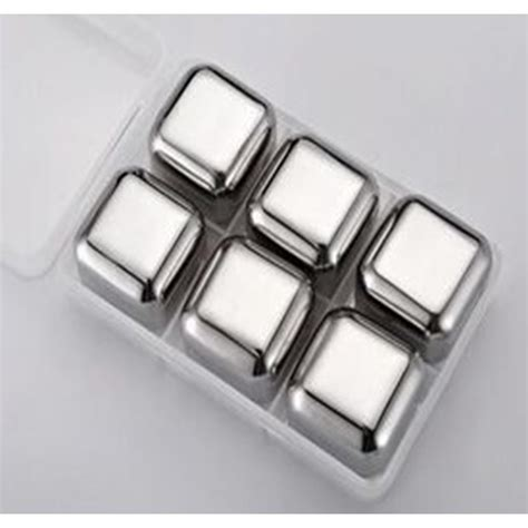 Es Batu Stainless Steel Reusable Cube 4 Pcs reusable stainless steel cube 6pcs es batu stainless jakartanotebook