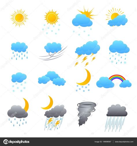 weather color weather color icons set vector stock vector