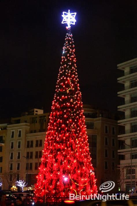 beirut downtown christmas tree bnl