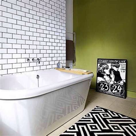 white bathroom tiles with black grout black grout in white metro tiles bathroom tiling pinterest