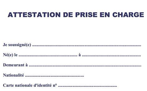 Lettre De Prise En Charge Pour Visa Affaire Attestation De Prise En Charge Demande Visa Alg 233 Riens
