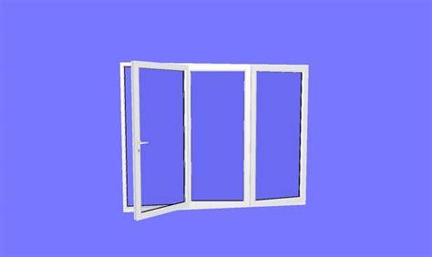 Patio Doors 2090 X 2090 1790 X 2090 3 Panel White Upvc Bifold Door