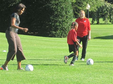 white house youth soccer first lady joins youth on special soccer field the white house lawn scripps