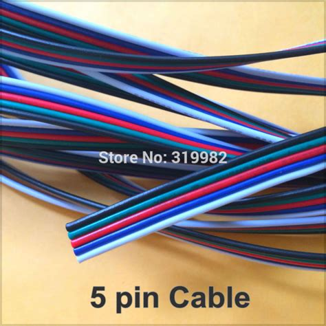5 pin cable 22awg wire 5p extension cord connector for