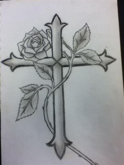 cross with rose tattoo designs cross and design tattoos