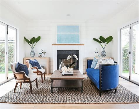 blue and white home decor modern farmhouse with transitional interiors home bunch