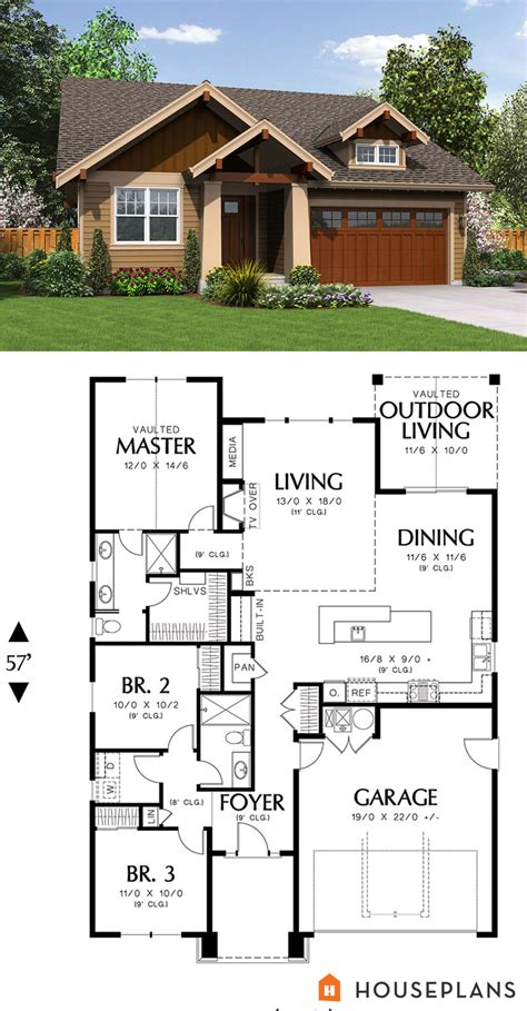 cozy cottage floor plans 1500 sft cozy craftsman cottage plan houseplans plan 48 598 luxamcc