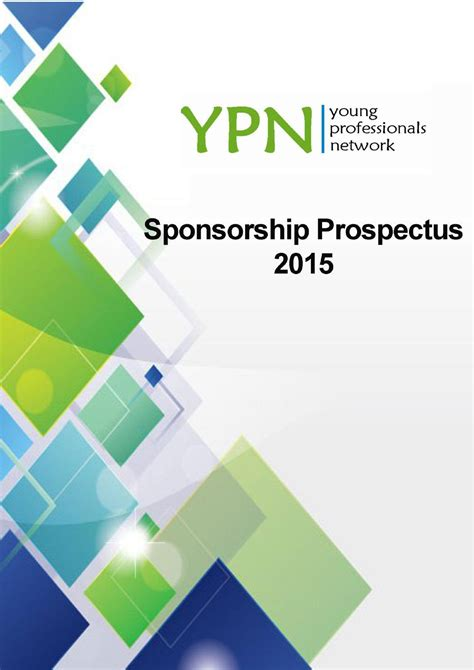 sponsorship prospectus template ypn sponsorship prospectus 2015 by the professionals