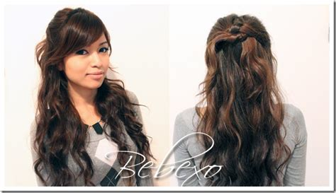 knotted half up half down hairstyles holiday half up half down knotted hairstyle 183 just bebexo