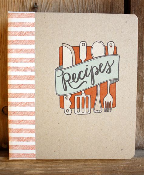 recipe of books items similar to discontinued letterpress recipe book on