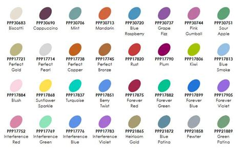 rangers colors ranger pearls color charts ink