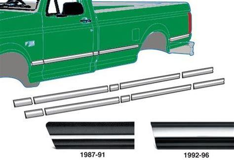 bed moulding 1987 1991 ford f series truck standard cab 8 bed pre cut moulding set broncograveyard com