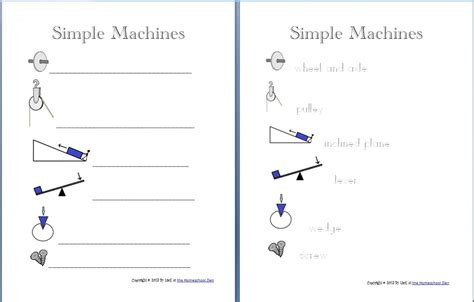 Work And Machines Worksheet by Simple Machines Packet About 30 Pages Homeschool Den