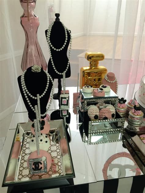 Chanel Decorations by Modern Chic Chanel Baby Shower Baby Shower Ideas