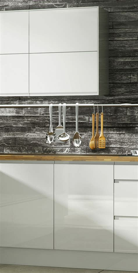 Blue Kitchens gloss handle less kitchen pictures pictures