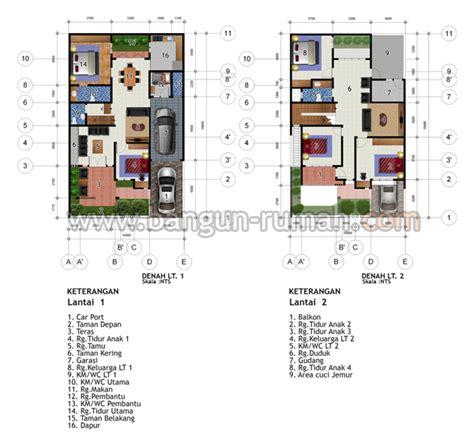 layout rumah lebar 10 meter desain rumah 2 lantai di lahan 10 x 16 m2 desain rumah
