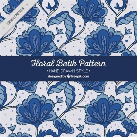 floral pattern batik hand drawn batik flower pattern vector free download