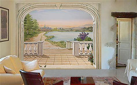 Decor Mural Panoramique by D 233 Coration Murale Trompe L Oeil Sur Papier Peint Ou Toile