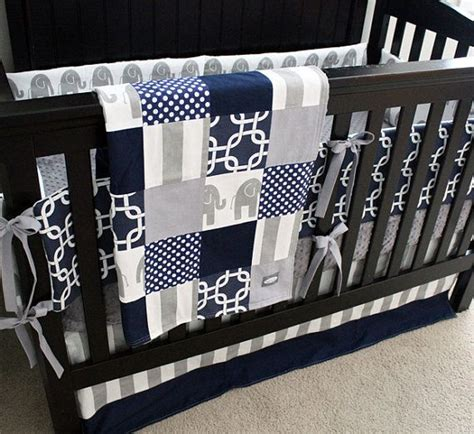 navy blue crib bedding blue and gray crib bedding sets details about baby boy blue grey designer quilt
