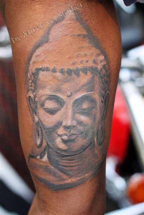 buddha head tattoo buddha realistic by mirek vel stotker stotker