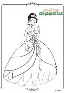 dessin 195 colorier tiana et son prince