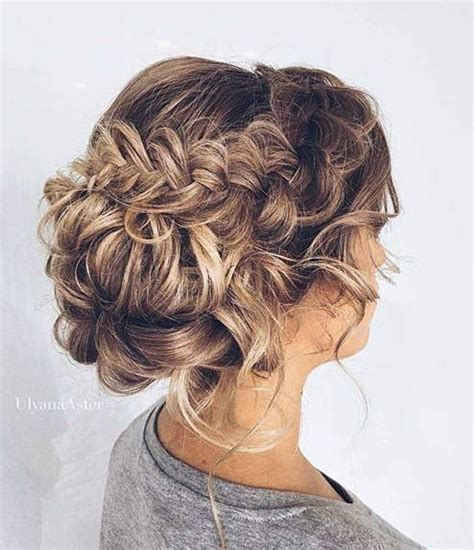 formal hairstyles messy bun with braid messy braided updo for prom hair upstyles pinterest