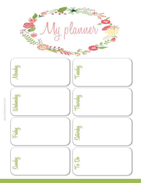 Weekly Planner Planner Template Weekly