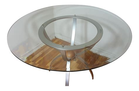 ethan allen glass dining table ethan allen glass dining table chairish