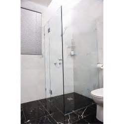 glass shower door kit highgrove 10 x 2000 x 865mm frameless glass shower door