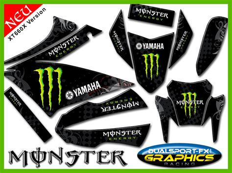 Yamaha Xt 660 Aufkleber Set by Yamaha Xt 660 X Monster Full Dekorsatz Stickers