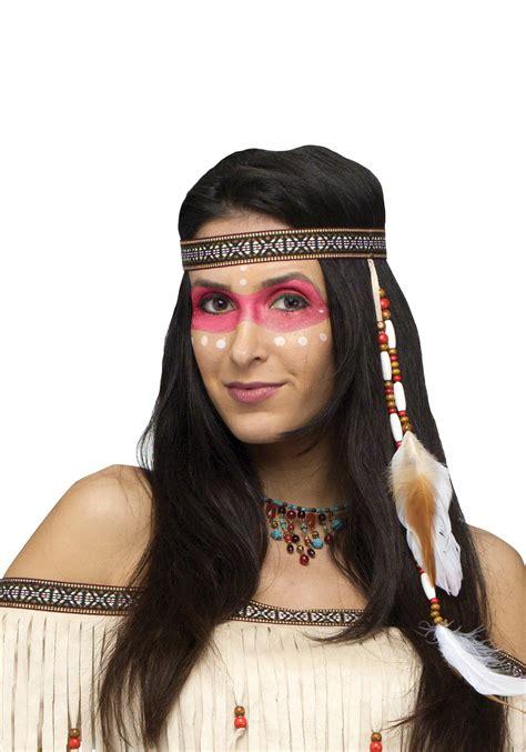 cherokee indian hair bead and feather native american headband