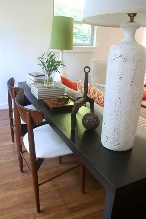table to eat on couch diy console table picmia