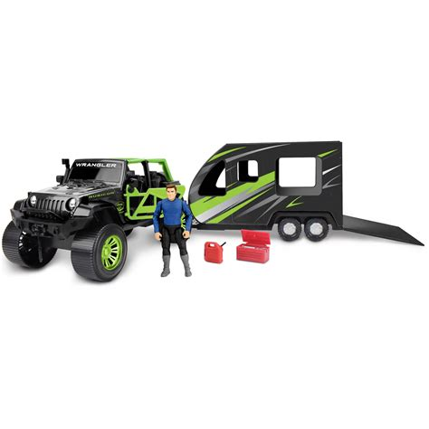 toy boat adventure adventure force jeep with toy hauler set deluxe play sets