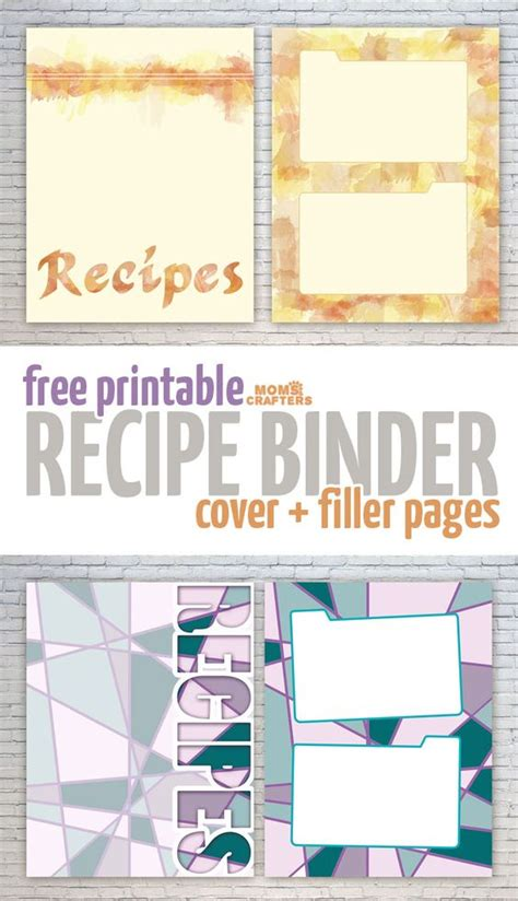 printable recipe binder covers free recipe binder printables recipe binders printable