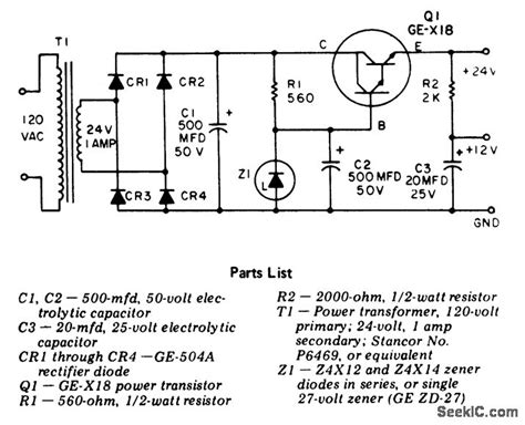 24 volts power supply circuit diagram 24 volt dc regulated power supply with 500 ma rating